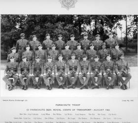 Group photograph of the Parachute Troop, 63 Parachute Squadron RCT, 1966