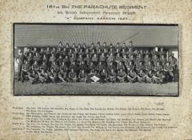 Group Photograph of A Company, 16th Parachute Battalion, 1947