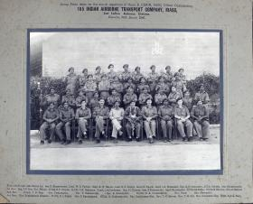 Group Photograph of 165 Indian Airborne Transport Company RIASC