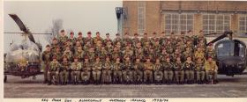 Group portrait of 664 Para Sqn AAC at RAF Aldergrove, Northern Ireland, 1974