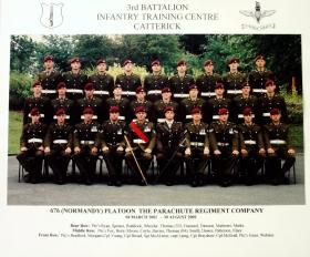 676 Platoon Passing Out photograph, August 2002.