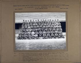 Group Photograph of B Platoon, 165 Indian Airborne Transport Company, RIASC