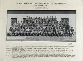 Group Photograph of B Company, 16th Parachute Battalion, 1947