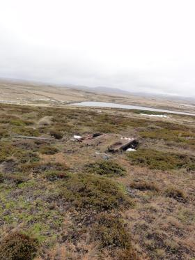 Remains of enemy position, Goose Green, 9 June 2012.