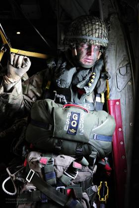 A Paratrooper waits to jump in Exercise Joint Warrior, 2012.