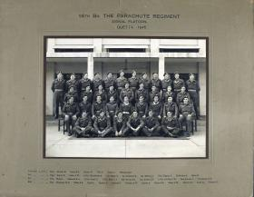 Group Photograph of 16th Parachute Battalion, Signallers Platoon, 1946
