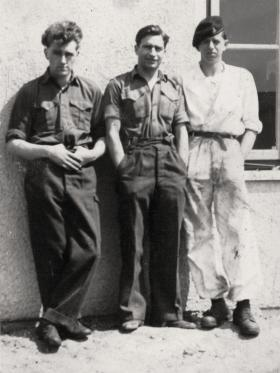 Donald Hicks (centre) and two colleagues