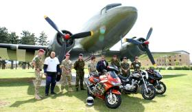Paratroopers from 3 PARA meet with Riders Taking Part in the 1000 Miles in 24 Hours Charity Challenge, Colchester, 2011