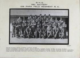 Group Photograph of Battery HQ, 581 Parachute Field Battery RA, early 1947