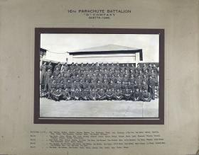 Group Photograph of D Company, 16th Parachute Battalion, 1946