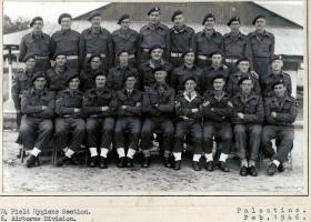 74 Field Hygiene Section, RAMC, 6 AB Div,  Palestine, February 1946.