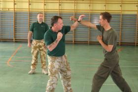 Matt Kindred and Eddie Stone (ex 22 SAS ) training students, Austria, c2009.