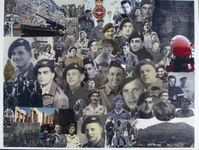 Collage of 6th Parachute Battalion.