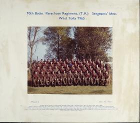 Group Photograph of 10th Parachute Battalion (T.A) Sergeants' Mess 1965