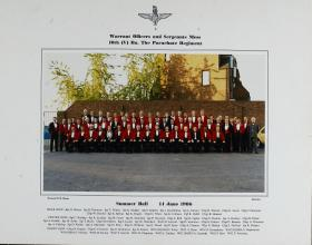 Group Photograph of Warrant Officers and Sergeants' Mess, 10th Parachute Battalion 1986