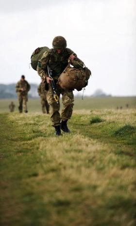 Members of 3 PARA take part in Exercise Eagles Flight, 2012.