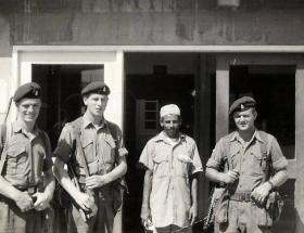 Members of F Battery, 7 PARA RHA, Aden, 1967.