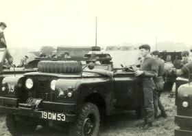 Members of F Bty, 7 PARA RHA, prepare for exercise, UK, 1960s.