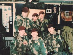 Members of 8 Platoon, C Coy 3 PARA, Lenadoon, West Belfast, Northern Ireland, February 1978.