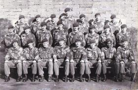 Group photograph of 8 Platoon, C Coy 3 PARA, Belfast, 1978.