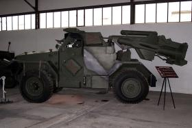 Exhibit of Hornet armoured car with Malkara missile system