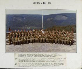 Group Photograph of Sergeant's Mess, 15th Parachute Battalion 1975