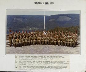 Group Photograph of Sergeants' Mess, 15th Parachute Battalion 1975