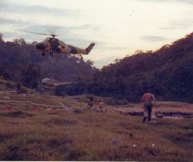 845 Sqn Royal Navy Base, Nanga Gaat, Sarawak, Borneo, 1964.