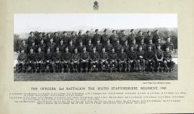 Group Photograph of Officers of the 2nd Battalion, The South Staffordshire Regiment, 1943.