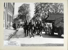1st Parachute Brigade enter Carlsberg Breweries in Copenhagen to assist Danish resistance forces, 1945