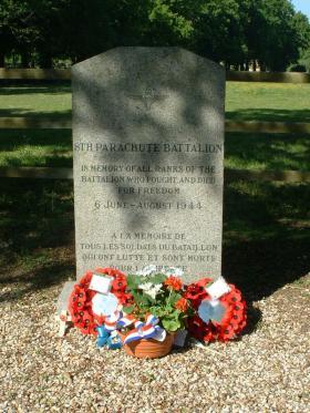 Memorial to 8th (Midlands) Parachute Battalion, Touffreville, Normandy