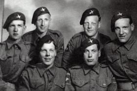 Six men of The 8th (Midland) Parachute Battalion, early 1944.