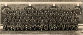 Group photo of B Coy, 9th Parachute Battalion, Bulford, 1944.