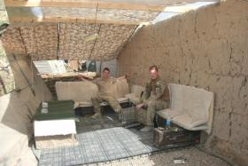 Rest Area at Patrol Base 1, Afghanistan, 2010