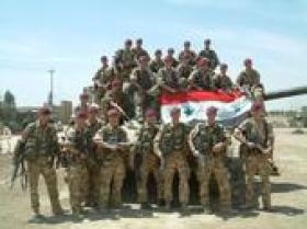 Group portrait of C Troop, 216 Parachute Signal Squadron, Iraq (Op Telic)