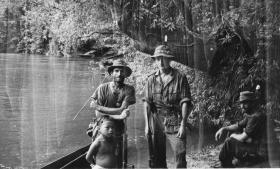 98 Guards Coy Patrol with local Punan boy, Sarawak, Borneo, 1964