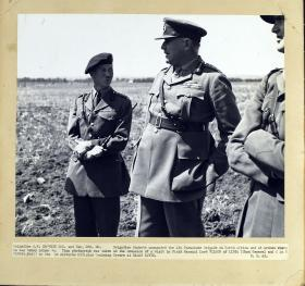 Brigadier Hackett with Field Marshall Lord Wilson of Libya at Ramat David