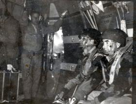 CSGT Fotheringham waiting to jump with others, date unknown.