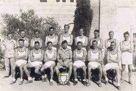 Group photo of 9th Parachute Battalion Athletics Team, c.1945