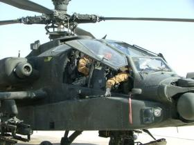 A 4 Regt AAC crew prepare to launch on a sortie over the Green Zone, Afghanistan, 2008