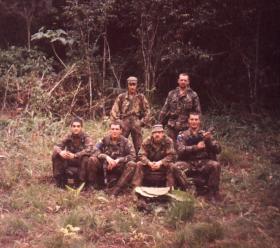 Group photo, 2 PARA, Belize 1988