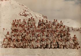 Group photograph of A Coy, 1 PARA on an exercise in Norway
