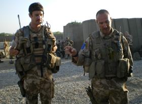 Lt Murrary McMahon, Sgt Phil Stout 7 Platoon 2 Para