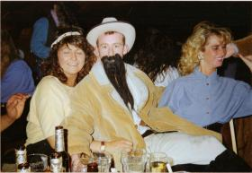 Pte Mick Corry and Gill Smith, A Coy 4 PARAs 'Wild West Night' at Grace Road, Liverpool, 1980s