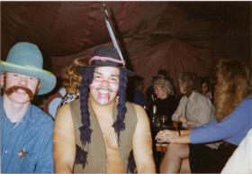 Pte Ritchie Carroll, A Coy, 4 PARA during 'Wild West Night' at Grace Road, Liverpool, 1980s