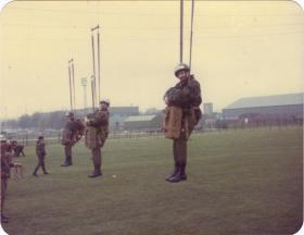Pte Crichton at the end of the 'knackercracker, 1980s