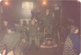 WO2 McVey's famous 'Dambuster' sketch in A Coy, 4 PARA'S Bar, 1980s