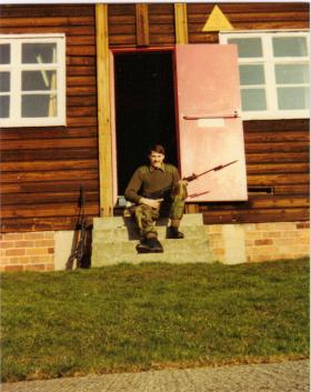 Pte Lee Crichton in early days as a recruit at Ripon, 1980s