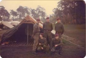 Men of A Coy, 4 PARA at the tented camp, Hameln, Germany, 1980s