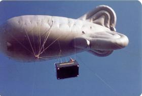 Balloon jumps - Up 800ft, four men jumping, 1980s